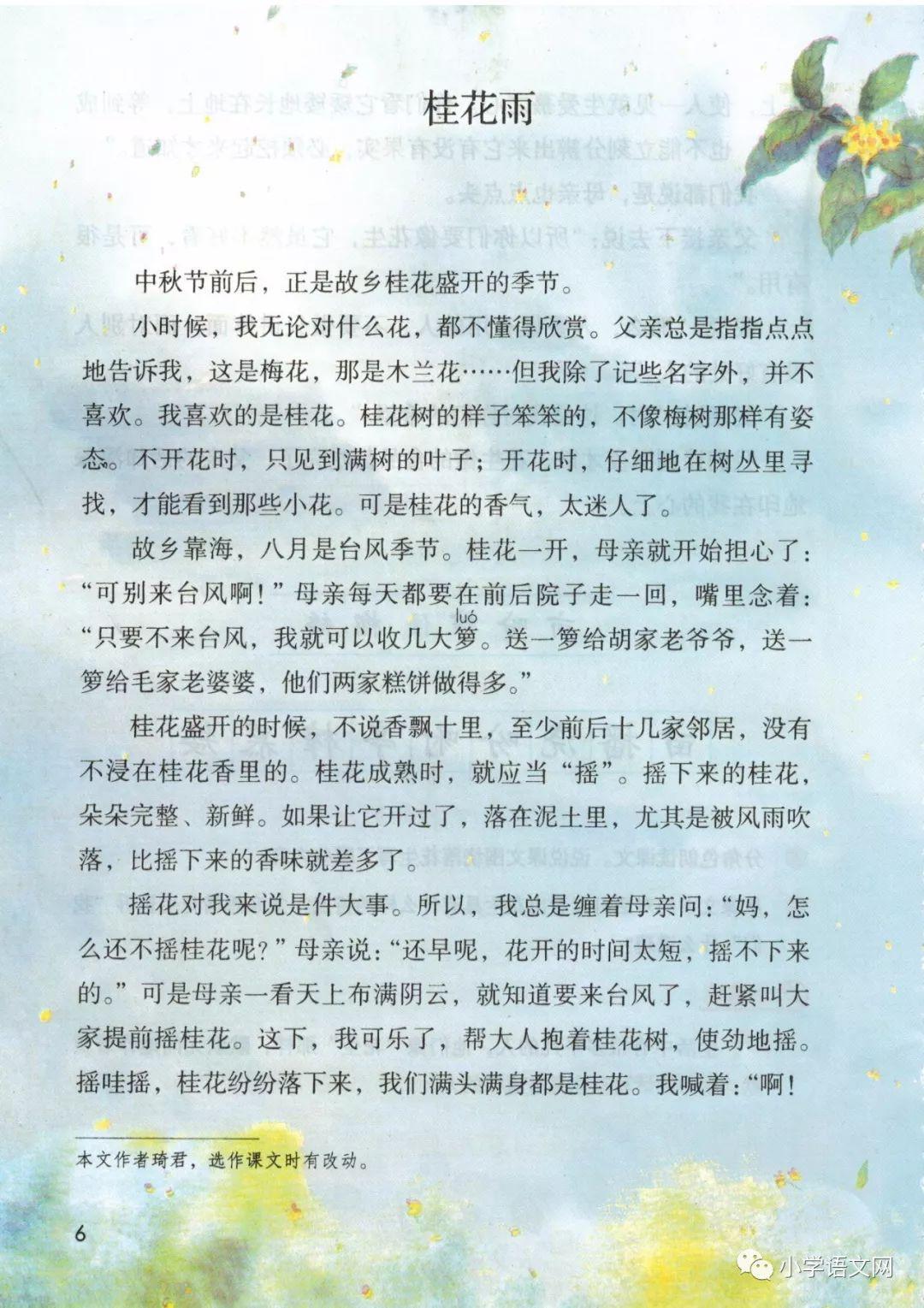 3 桂花雨(第11页)