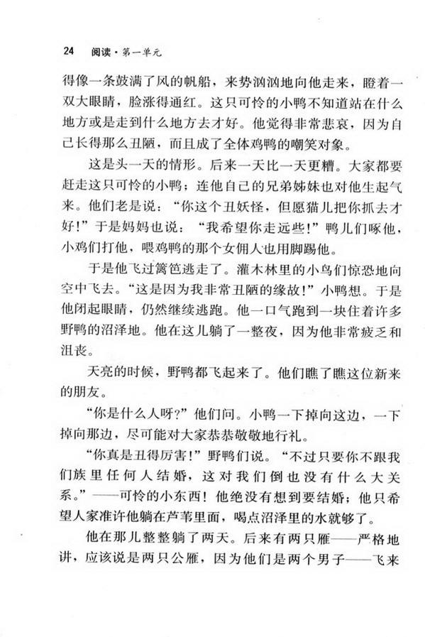 3 丑小鸭(第24页)