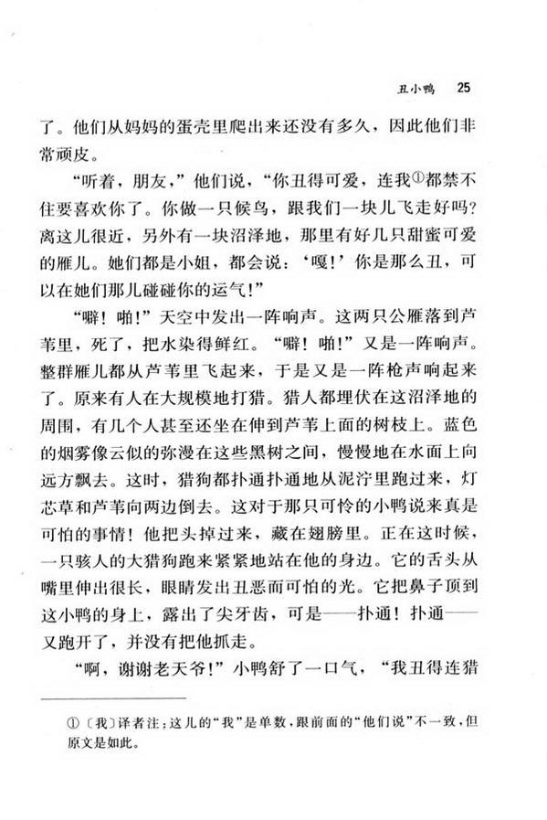 3 丑小鸭(第25页)