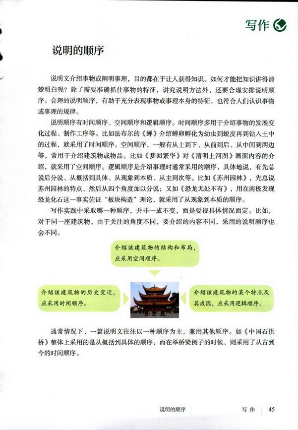 写作 说明的顺序(第49页)